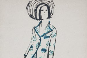 Vlasta Hegerová: Fashion Drawing. Devleoping studio of the Naša móda / Our Fashion magazine; 1967.