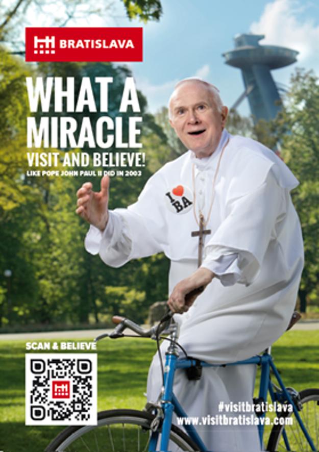 Late Pope John Paul II visiting Bratislava...