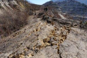 Landslide during construction of the highway near Šútovo in 2013.