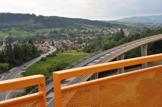 The exit of the D3 Svrčinovec-Skalité highway section.