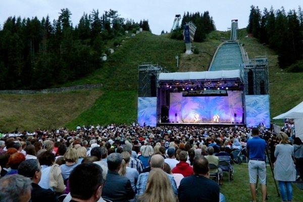 Lúčnica folklroe troupe performed at Štrbské Pleso, High Tatras