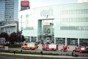 The Bratislava Aupark started fire September 9 afternoon.