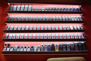 Mobila phones exhibited