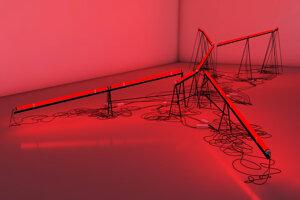 Carmela Gross, a contemporary artist will exhibit a light installation at LAB, Kunsthalle Bratislava