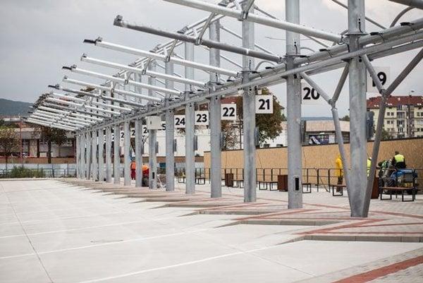 The future temporary bus station on Bottova Street in Bratislava