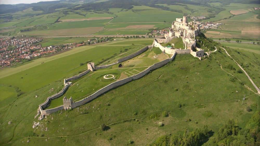 Spiš Castle is impressive from the air as well as from the ground.