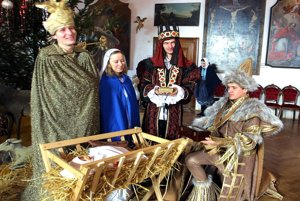Once, there was also a live Nativity Scene at Bojnice.