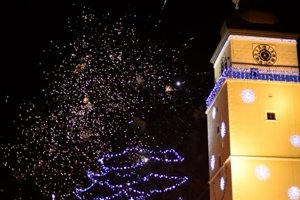 Children's firework on New Year's Eve, Trnava