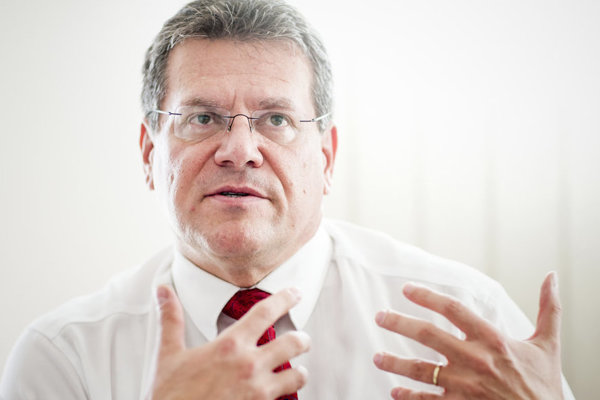 Vice-president of the European Commission Maroš Šefčovič