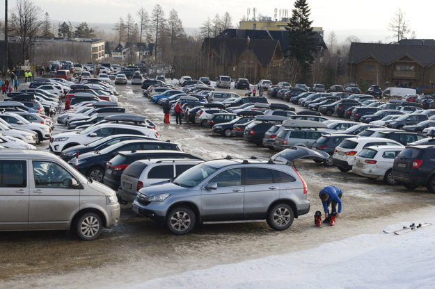 Parking in the High Tatras on January 7