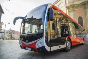 Presentation of the e-bus in Bratislava