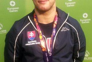 István Lévai enjoys bronze medal.