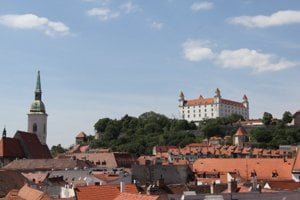 A view of Bratislava from the Old Town Hall