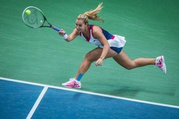 Fed Cup 2014, Slovak Dominika Cibulková plays against Germany