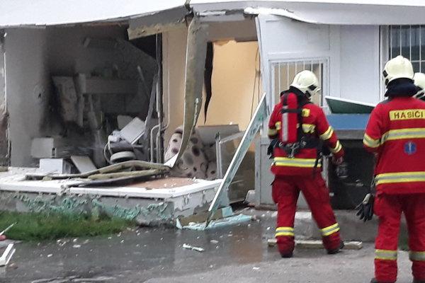 The medical centre in Vrakuňa, Bratislava, after the explosion.