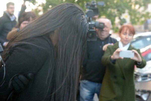 Alena Zs led to court in Banská Bystrica, end of September 2018