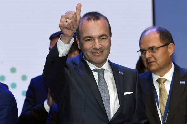 Manfred Weber of Germany wins the race to lead the European Union's center-right parties into key EU elections in May.