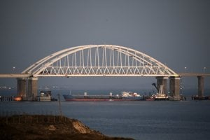 Russia tried to block the Kerch Strait on November 25 by positioning a ship under the bridge.