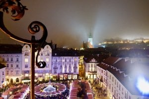 The Christmas Market at Main Square in Bratislava