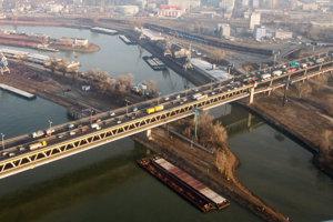 Bratislava roads during rush hour.