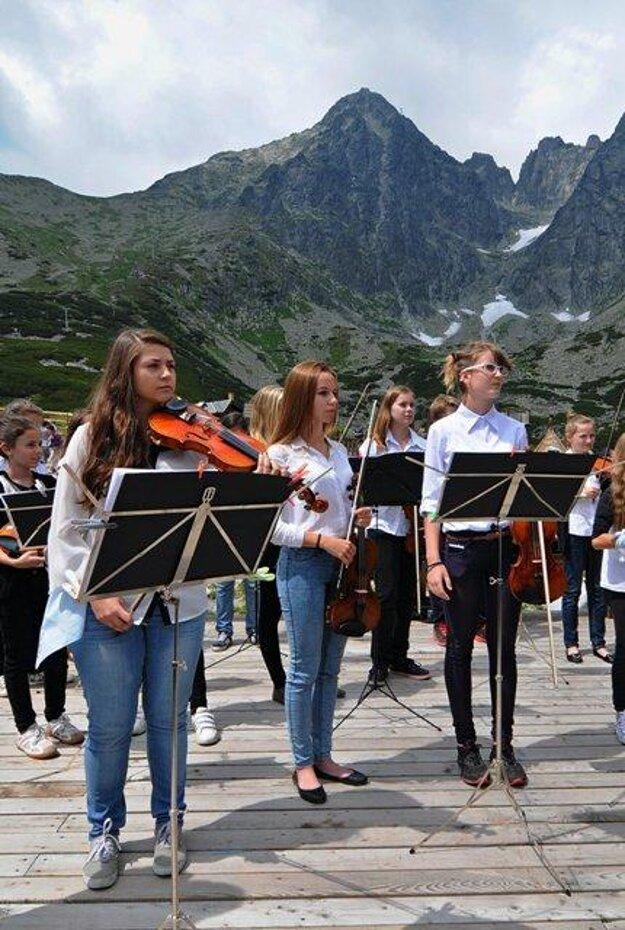 Klanaté pleso violin concert 2014