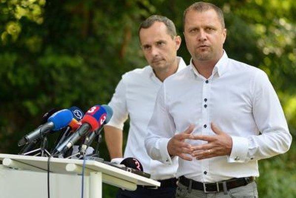 Radoslav Porcházka (L) with Andrje Hrnčiar