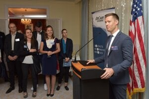 Martin Kardoš, Managing Director CEE at CSI Leasing, at one of the Mentor Network Program events.