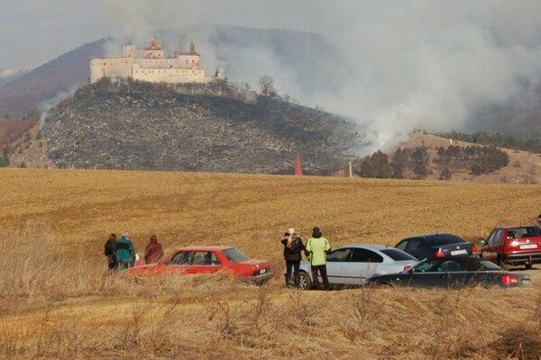 Krásna Hôrka Castle caught fire in March 2012.
