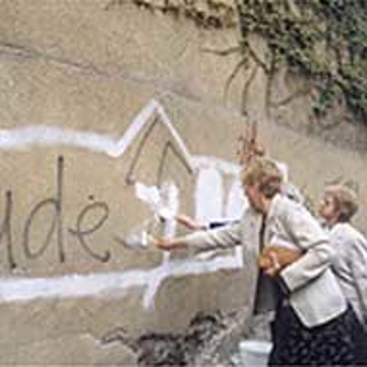 NGO paints over Nazi symbols - spectator sme sk