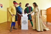 Historical group from the Rotenstein festival voted in Holic.