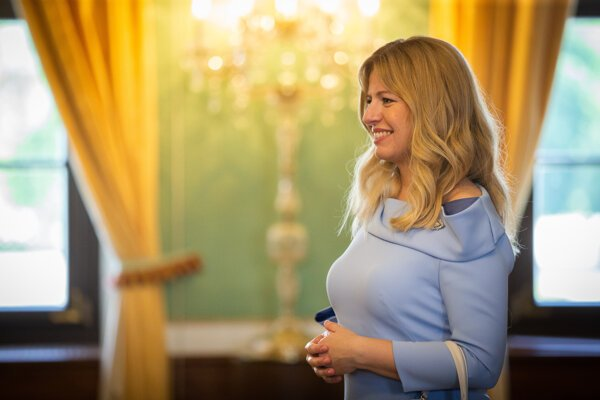 Zuzana Čaputová in the Presidential Palace on her inauguration day.