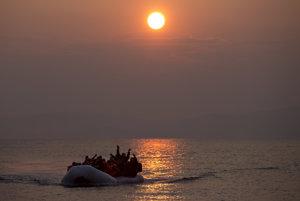 Migrants arriving on the Greek coast, illustrative stock photo.