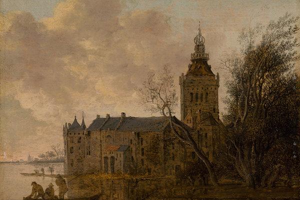 A. Jansz van der Croos: The Montfort Castle, 1653 (Netherlandish Painting exhibition)