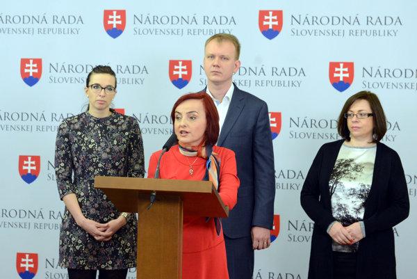 Simona Petrík, Katarína Macháčková, Miroslav Beblavý and Zuzana Zimenova, from left