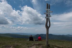 The tallest peak in the mountain range – Ostredok (1,596 m).