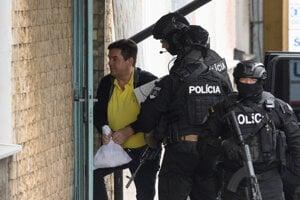 Marian Kočner arrives in Nitra for interrogation, August 13, 2019.