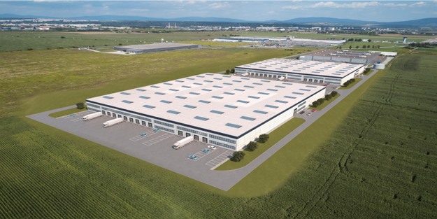 A visualisation of the new industrial park in Košice.
