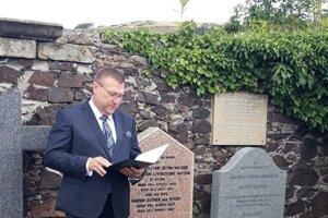Slovak Ambassador to the UK Ľubomír Rehák in Abernethy, Scotland.