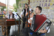 A folk group performs at the Spiš Fair in eastern Slovakia