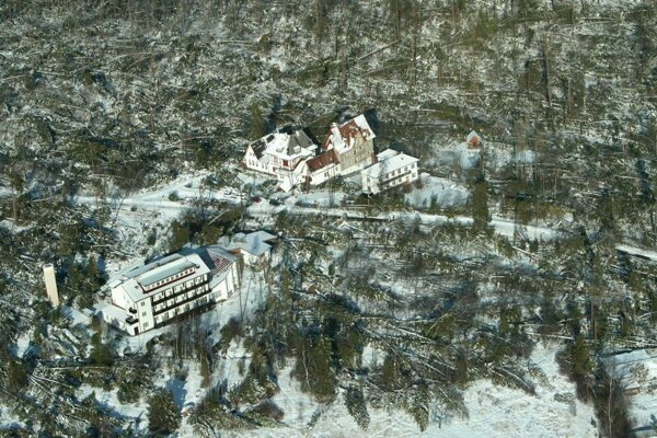 Slovakia was hit by a strong windstorm on November 19, 2004, causing massive damage to nature and people