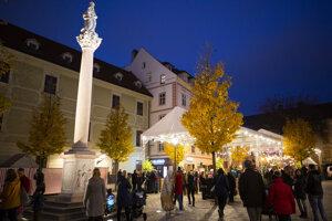 The Christmas market on  Františkánske Square.