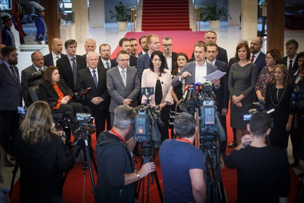 Opposition held the press conference.