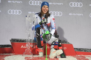 Petra Vlhová won the slalom race in Flachau, Austria.