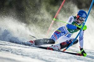 Petra Vlhová during the first round in Kranjska Gora, Slovenia.