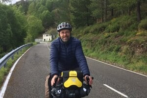 Graham Strouts cycling the Camino de Santiago.