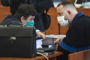 Marian Kočner and his lawyer Marek Para