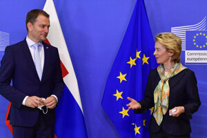 PM Igor Matovič met with EC President Ursula von der Leyen in Brussels on Thursday. Meanwhile at home, he faces a plagiarism scandal.