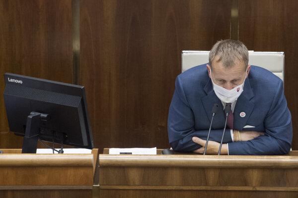 Speaker of Parliament Boris Kollár (Sme Rodina)