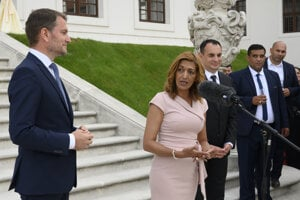 A commemorative event to pay tribute to the Roma Holocaust victims was held at Bratislava Castle. Government's Proxy for Roma Communities Alena Bučková speaking in the picture.