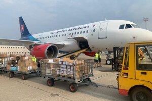 Slovakia sent material aid to Lebanon.
